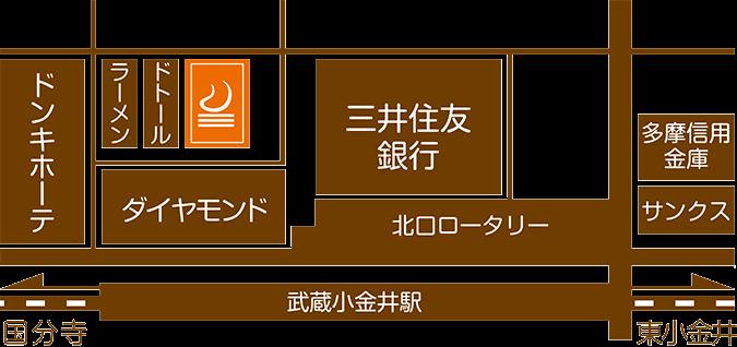 武蔵小金井駅前整体院アクセスマップ